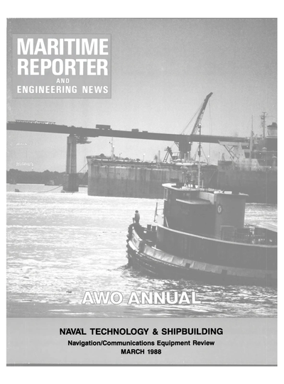 Cover of March 1988 issue of Maritime Reporter and Engineering News Magazine