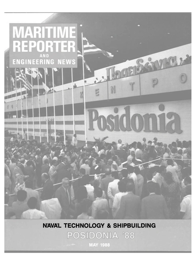 Cover of May 1988 issue of Maritime Reporter and Engineering News Magazine