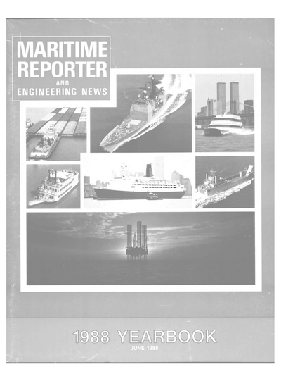 Cover of June 1988 issue of Maritime Reporter and Engineering News Magazine