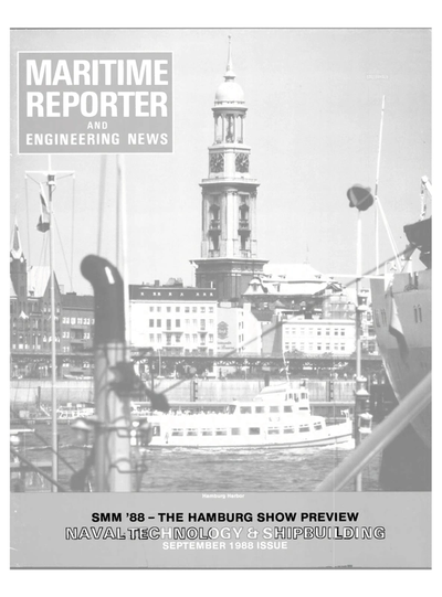 Cover of September 1988 issue of Maritime Reporter and Engineering News Magazine