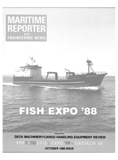 Cover of October 1988 issue of Maritime Reporter and Engineering News Magazine