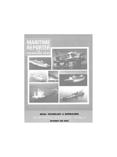 Cover of December 1988 issue of Maritime Reporter and Engineering News Magazine