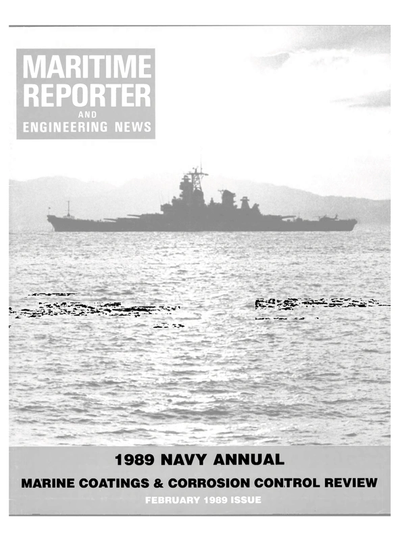 Cover of February 1989 issue of Maritime Reporter and Engineering News Magazine