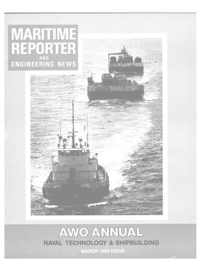 Cover of March 1989 issue of Maritime Reporter and Engineering News Magazine