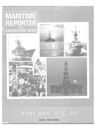 Cover of April 1989 issue of Maritime Reporter and Engineering News Magazine
