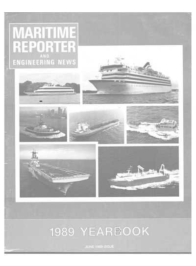 Cover of June 1989 issue of Maritime Reporter and Engineering News Magazine