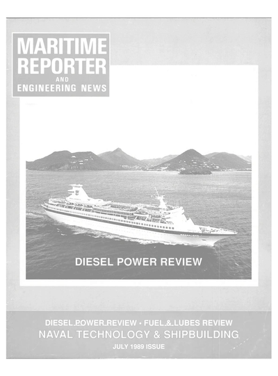 Cover of July 1989 issue of Maritime Reporter and Engineering News Magazine