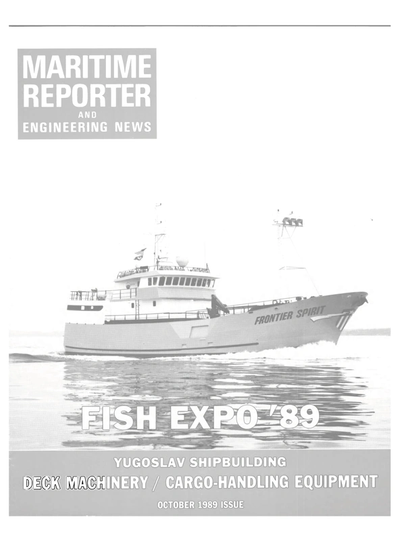 Cover of October 1989 issue of Maritime Reporter and Engineering News Magazine