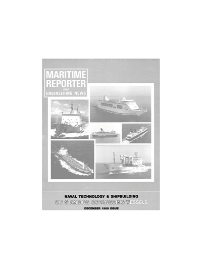 Cover of December 1989 issue of Maritime Reporter and Engineering News Magazine
