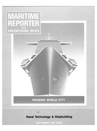 Cover of September 1990 issue of Maritime Reporter and Engineering News Magazine