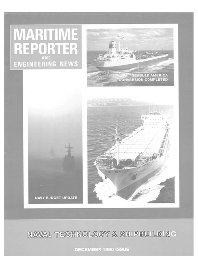 Cover of December 1990 issue of Maritime Reporter and Engineering News Magazine