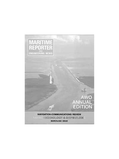 Cover of March 1991 issue of Maritime Reporter and Engineering News Magazine