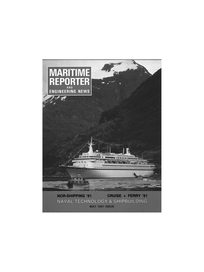 Cover of May 1991 issue of Maritime Reporter and Engineering News Magazine