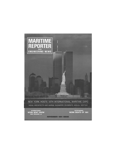 Cover of November 1991 issue of Maritime Reporter and Engineering News Magazine