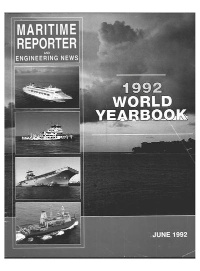 Cover of June 1992 issue of Maritime Reporter and Engineering News Magazine