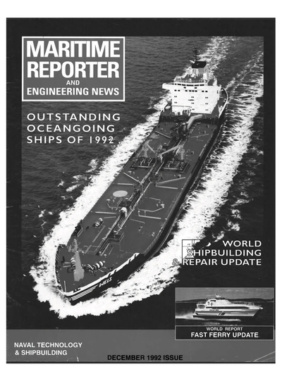 Cover of December 1992 issue of Maritime Reporter and Engineering News Magazine