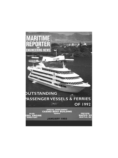 Cover of January 1993 issue of Maritime Reporter and Engineering News Magazine