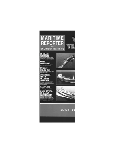Cover of June 1993 issue of Maritime Reporter and Engineering News Magazine