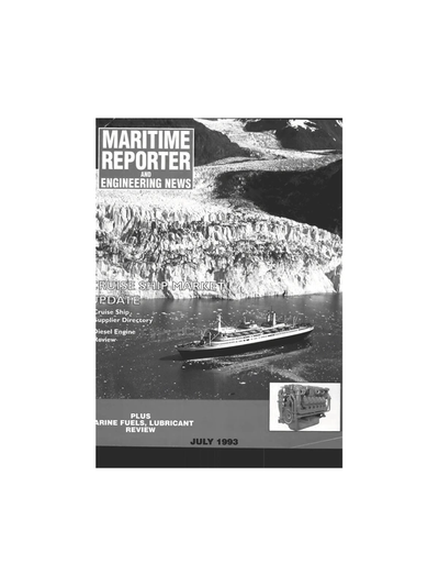 Cover of July 1993 issue of Maritime Reporter and Engineering News Magazine