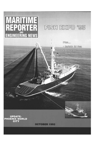 Cover of October 1993 issue of Maritime Reporter and Engineering News Magazine
