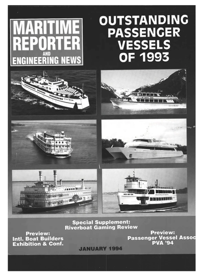 Cover of January 1994 issue of Maritime Reporter and Engineering News Magazine