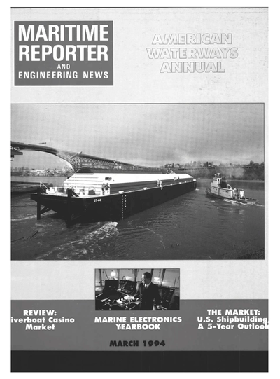 Cover of March 1994 issue of Maritime Reporter and Engineering News Magazine