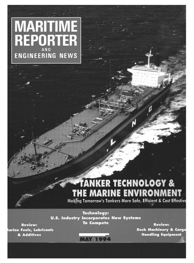 Cover of May 1994 issue of Maritime Reporter and Engineering News Magazine