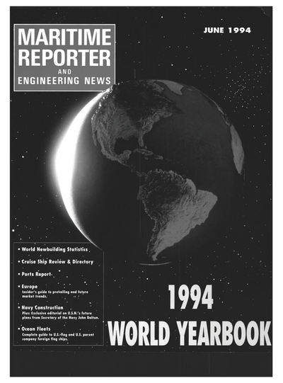 Cover of June 1994 issue of Maritime Reporter and Engineering News Magazine