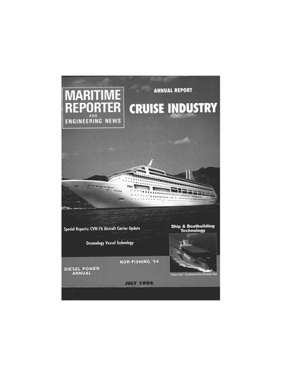 Cover of July 1994 issue of Maritime Reporter and Engineering News Magazine