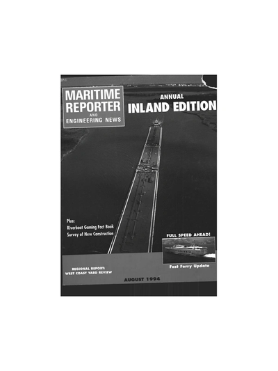 Cover of August 1994 issue of Maritime Reporter and Engineering News Magazine