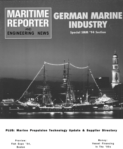 Cover of September 1994 issue of Maritime Reporter and Engineering News Magazine