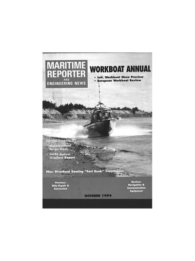 Cover of October 1994 issue of Maritime Reporter and Engineering News Magazine