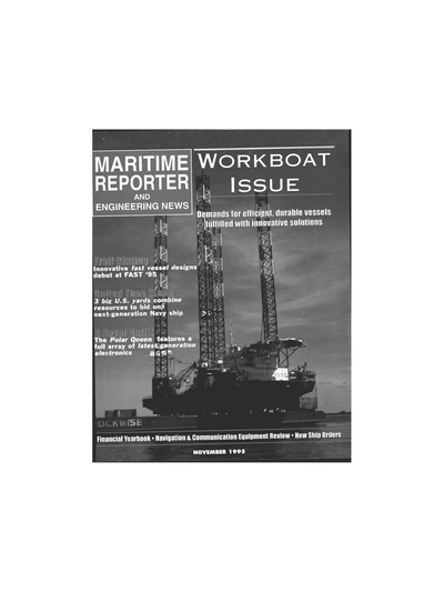 Cover of November 1995 issue of Maritime Reporter and Engineering News Magazine