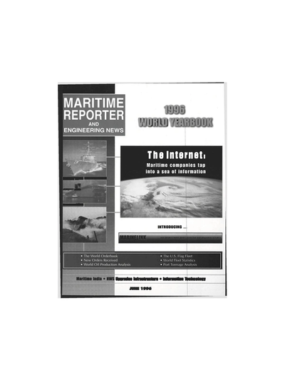 Cover of June 1996 issue of Maritime Reporter and Engineering News Magazine