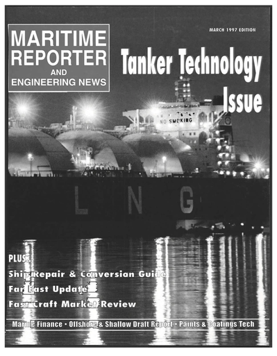 Cover of March 1997 issue of Maritime Reporter and Engineering News Magazine