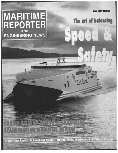 Cover of May 1997 issue of Maritime Reporter and Engineering News Magazine