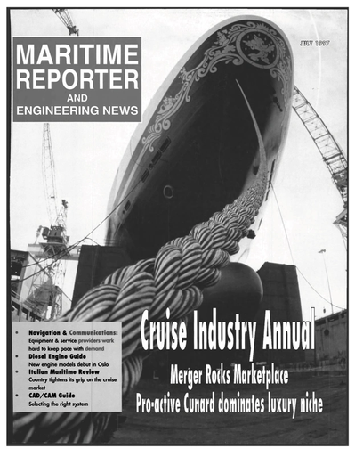 Cover of July 1997 issue of Maritime Reporter and Engineering News Magazine