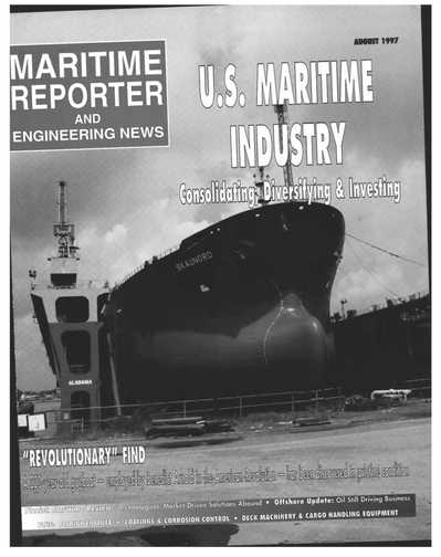 Cover of August 1997 issue of Maritime Reporter and Engineering News Magazine