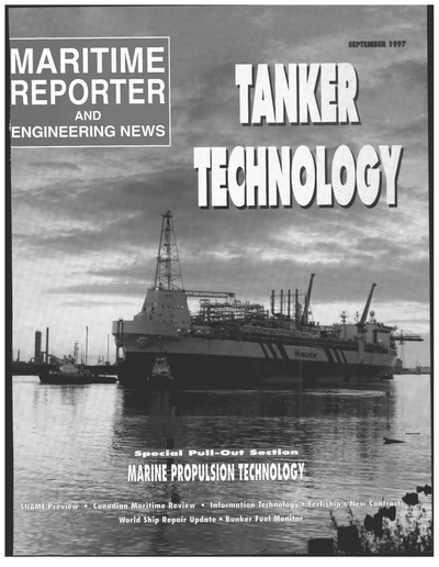 Cover of September 1997 issue of Maritime Reporter and Engineering News Magazine