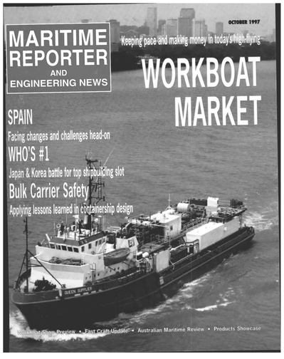 Cover of October 1997 issue of Maritime Reporter and Engineering News Magazine