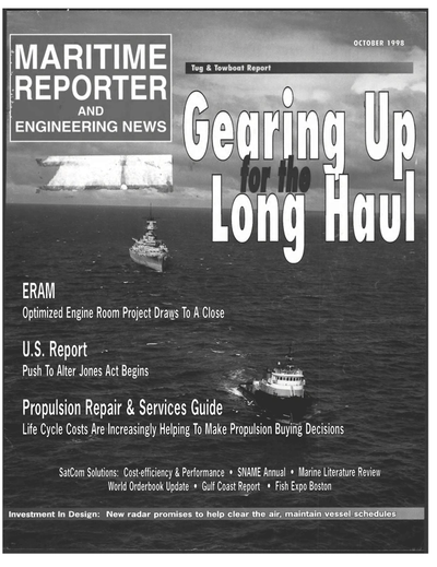 Cover of October 1998 issue of Maritime Reporter and Engineering News Magazine