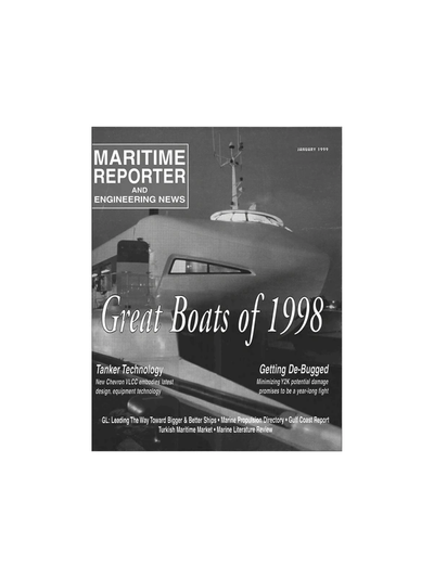 Cover of January 1999 issue of Maritime Reporter and Engineering News Magazine