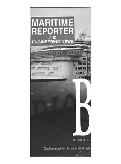 Cover of February 1999 issue of Maritime Reporter and Engineering News Magazine