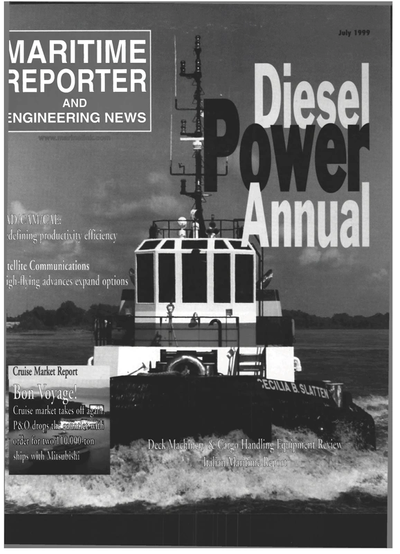 Cover of July 1999 issue of Maritime Reporter and Engineering News Magazine