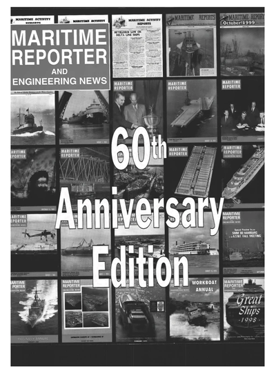 Cover of October 1999 issue of Maritime Reporter and Engineering News Magazine