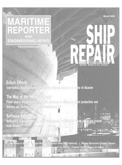 Cover of March 2000 issue of Maritime Reporter and Engineering News Magazine