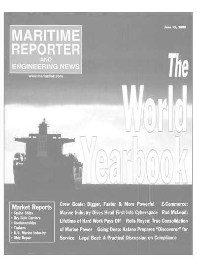 Cover of June 15, 2000 issue of Maritime Reporter and Engineering News Magazine