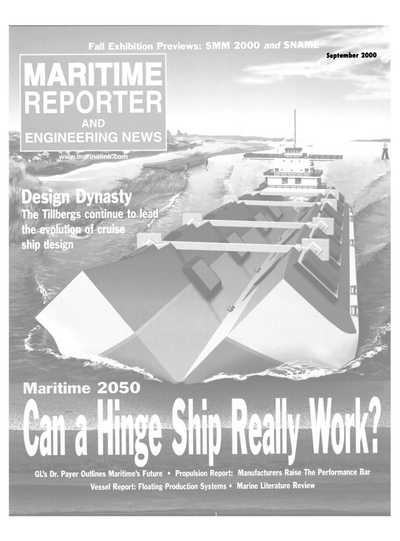 Cover of September 2000 issue of Maritime Reporter and Engineering News Magazine