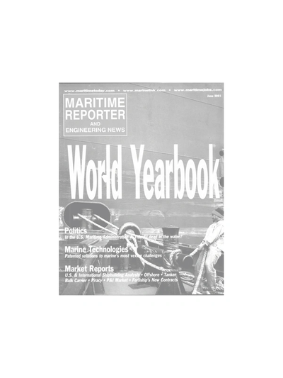 Cover of June 2001 issue of Maritime Reporter and Engineering News Magazine