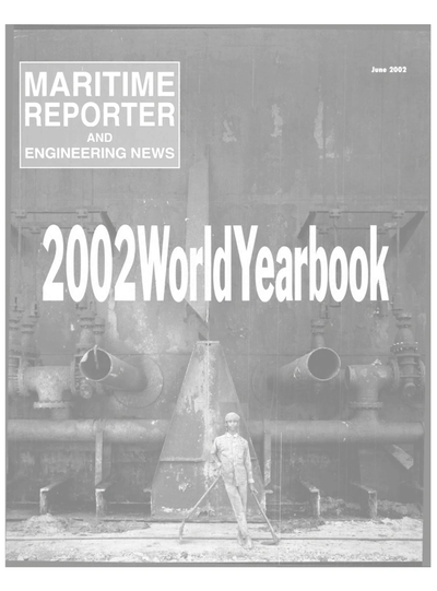 Cover of June 2002 issue of Maritime Reporter and Engineering News Magazine